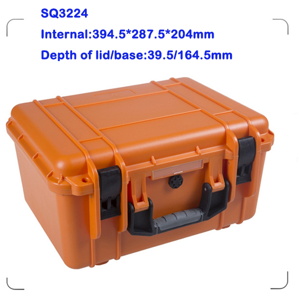 dustproof watertight plastic transport case for tools with uncut foam sq5124 shockproof plastic transport case without foam
