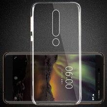 For Nokia 6 2018 Silicone TPU Case for 6.1 Cover Soft Back 1 2 3 5 7 8 TA-1068 TA-1050 TA-1043