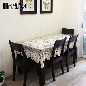 Image 5 - IBANO Cotton Tablecloth Handmade Vintage Flowers Design Crocheted Table cloth Lace Coasters Home Table Decoration Crafts