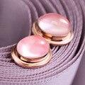 2017 Природных полудрагоценных камней Корейский стиль моды женский Розовый Кварц Серьги стержня розовый кристаллический порошок special для девочек