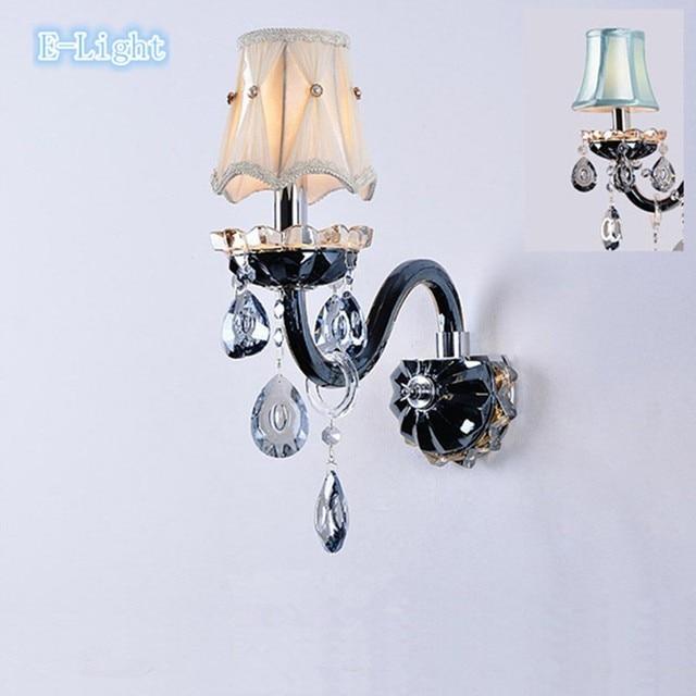 Design Chrome Gl Crystal Modern Wall Lamps Navy Bedroom Living Room Corner Lighting Light
