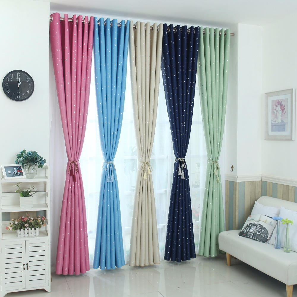 US $16.5 40% OFF|Modern stars blackout curtains kids bedroom curtain for  living room Elegent Bule Drapes Cortinas para sala-in Curtains from Home &  ...