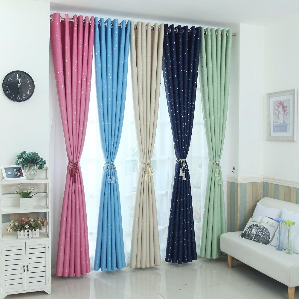 Blackout curtains for bedroom - Modern Stars Blackout Curtains Kids Bedroom Curtain For Living Room Elegent Bule Drapes Cortinas Para Sala
