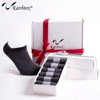 C320113B Kazhtex Silver Fiber Antibacterial Ankle Socks Men S Stripe Casual Sports Socks No Show Deodorization