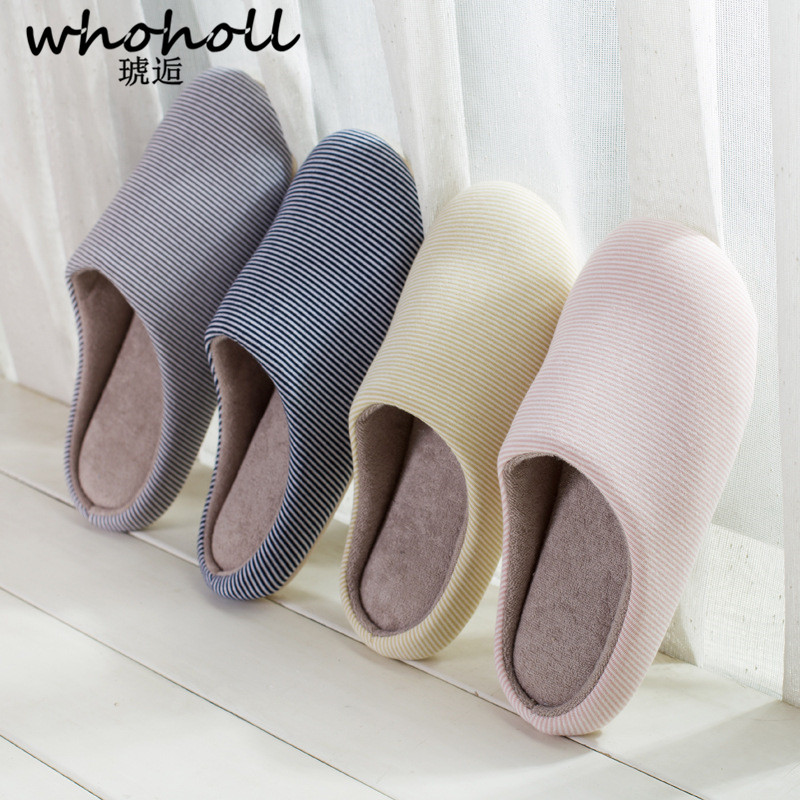 WHOHOLL 2018 New men Slippers Fashion Soft Bottom Home Slippers Non-slip Memory Foam man Indoor Floor Cotton Warm Shoes new new men women soft warm indoor slippers cotton sandal house home anti slip shoes