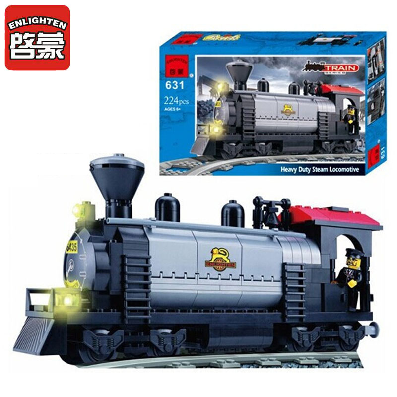 ENLIGHTEN 224pcs Train Station Model Building Block Eductional DIY Bricks Compatible With With Brand Blocks Kids