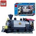 Enlighten 224 unids estación de tren modelo de bloques de construcción eductional diy ladrillos compatible con con marca de bloques para niños juguetes regalos