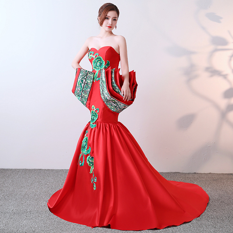 Red Partie red Mode red 3 red red Femmes Robe Longue 4 5 Qipao red 2 Luxe Nouveau 2019 Chinois Style 11 red S Cheongsam xxl 12 9 red red red 8 10 De red 1 Oriental Remorquage 6 Élégant red 7 Maxi 5RfUc8qw