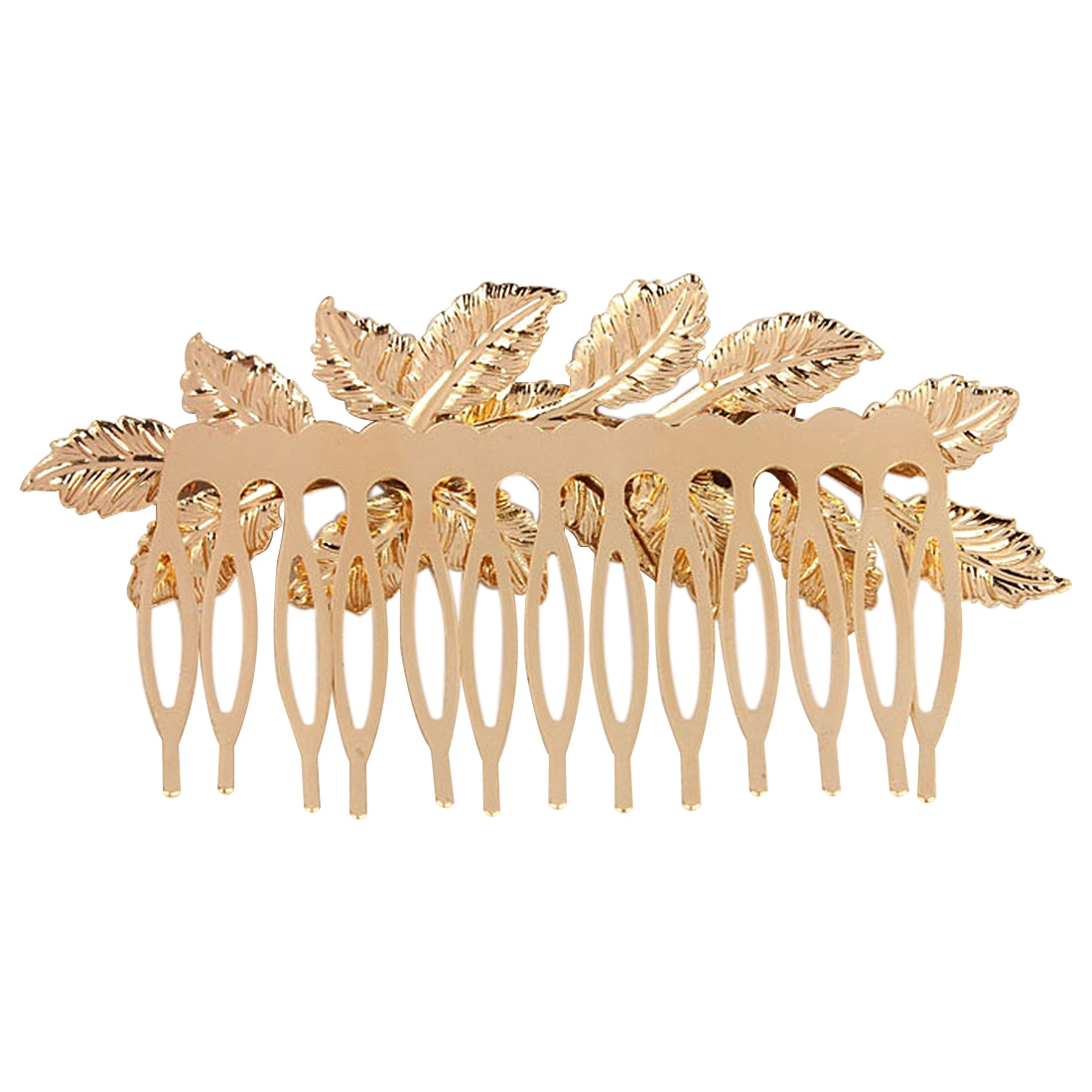 Best Sale Fashion Punk Women Girls Gold Leaf Hair Comb Hair Clip Jewelry Cuddly, Gold