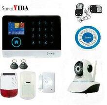 SmartYIBA Wireless WIFI 3G WCDMA Home Security Burglar Alarm System With Solar Power Siren Video IP Camera APP Remote Control