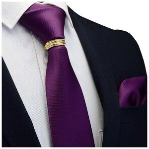 Image 4 - GUSLESON Yeni Tasarımcı Katı Düz Erkek Kravat Cep Kare Kravat Toka Seti Kırmızı Sarı Yeşil ipek kravatlar Takım Elbise Düğün Iş
