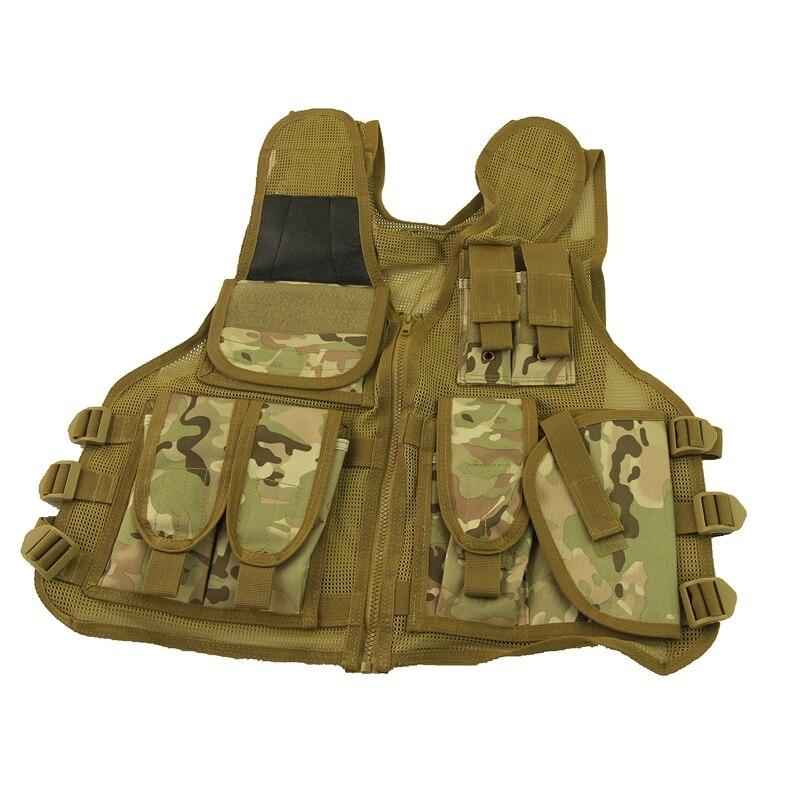 Wholesale Airsoft Paintball Tactical Vest Combat Assault Vest Multicam Camouflage for Paintball War Games