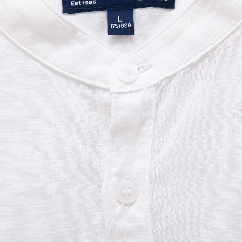 Camiseta sin cuello de lino de algodón suave de SEMIR para hombre camisa de manga corta de hombre en Regualr Fit camisas casuales de hombre camiseta masculina ropa de verano ropa