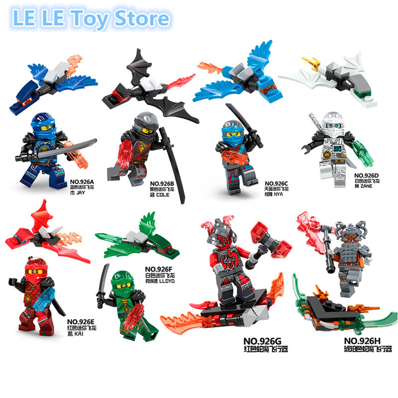 2017 New 8pcs/lot Ninja Kai Jay Zane Cole Lloyd Ninja With Weapon Building Block Figures Toys элвин и бурундуки грандиозное бурундуключение