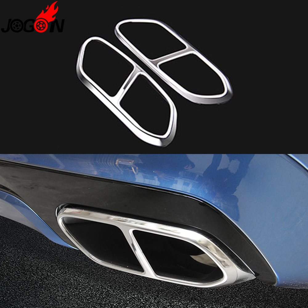 For Volvo XC60 2018 2019 Car Rear Dual Exhaust Muffler End Pipe Stickers Cover Trims Accessories