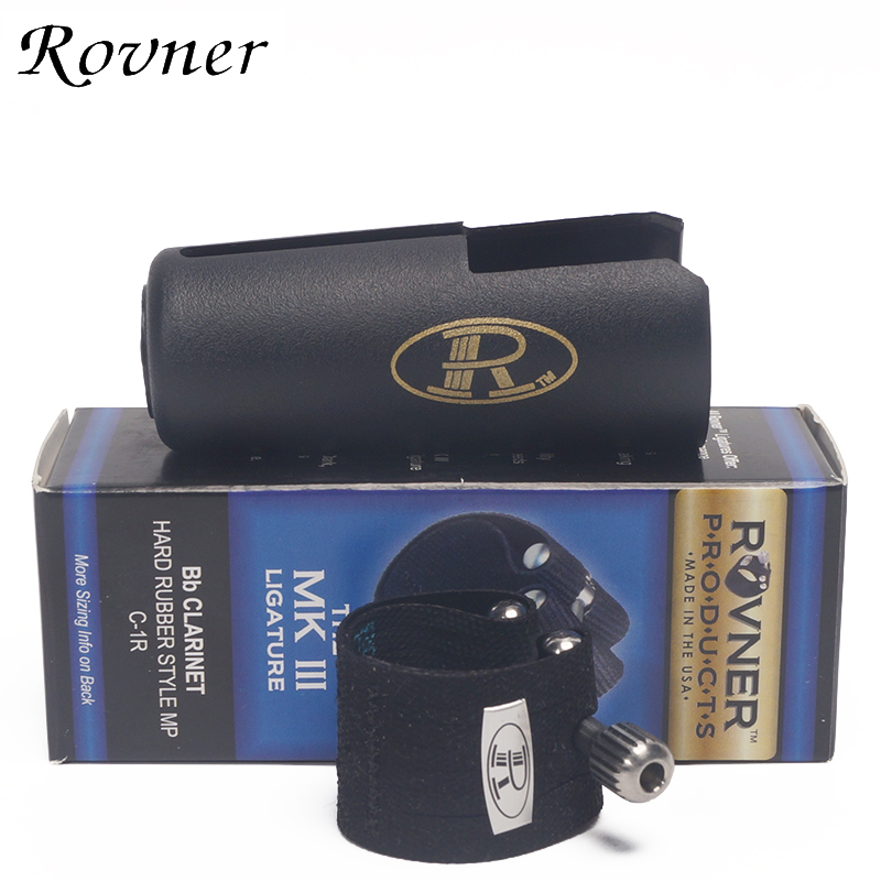 The  USA ROVNER MKIII Series Clarinet Hard Rubber Bakelite Mouthpiece Ligature Including Cap  C 1R