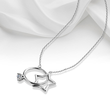 Cindiry Classic Necklaces Jewelry Silver Stainless Steel Men Women Star & Sun Style Pendant Necklace Female Gift