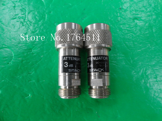 [BELLA] STACK DC-2.6GHz 3dB N RF Coaxial Fixed Attenuator  --2PCS/LOT