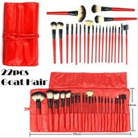 22 Pcs Professional Soft Hair Cosmetic Makeup Brushes Set Kit With Makeup Pouch Bag Woman Make