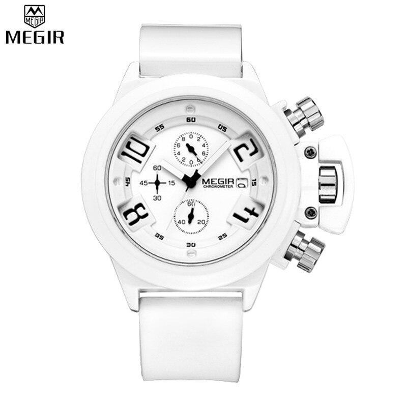 MEGIR Men Chronograph Auto Date Quartz Watch Hot Sale Watches Waterproof Multifunction Luxury Wristwatches Relogio Masculino