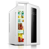 portable car refrigerator freezer 22L CNC dual core mini refrigerator single door student dormitory small fridge AC220V/DC12V