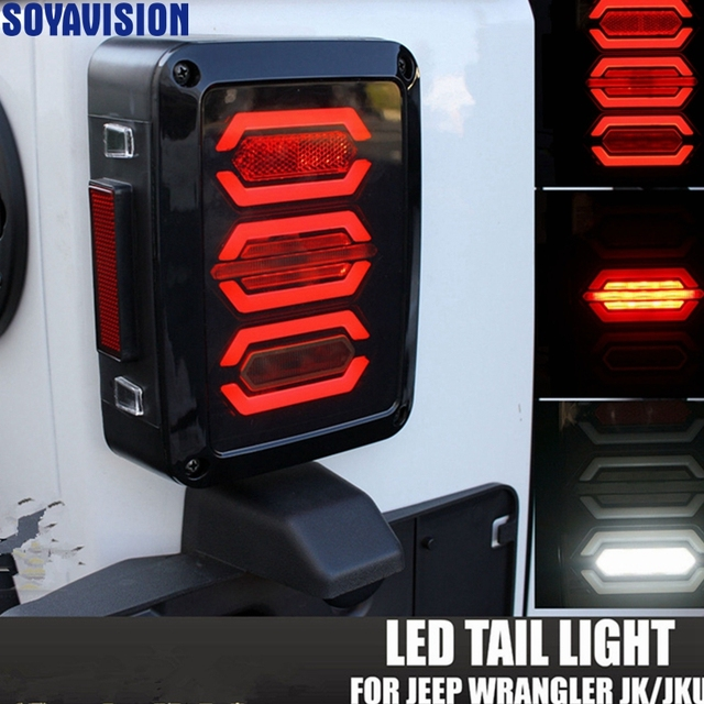Jeep Wrangler Led Tail Lights >> Usa Eu Edition Reverser Brake Turn Signal Led Rear Tail Light For