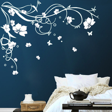 Large Butterfly Vine Flower Vinyl Removable Wall Stickers Tree Wall Art Decals