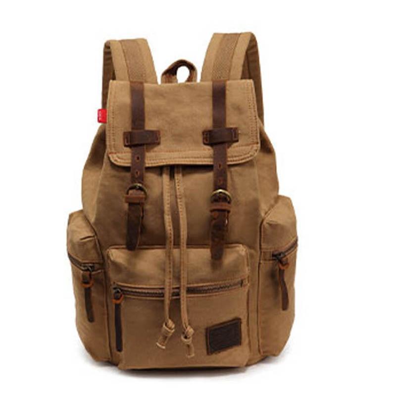 ФОТО New 2017 Korean Fashion Vintage Men Canvas Backpack Casual mens Travel bags School bags For boys Teenager Mochila M0004