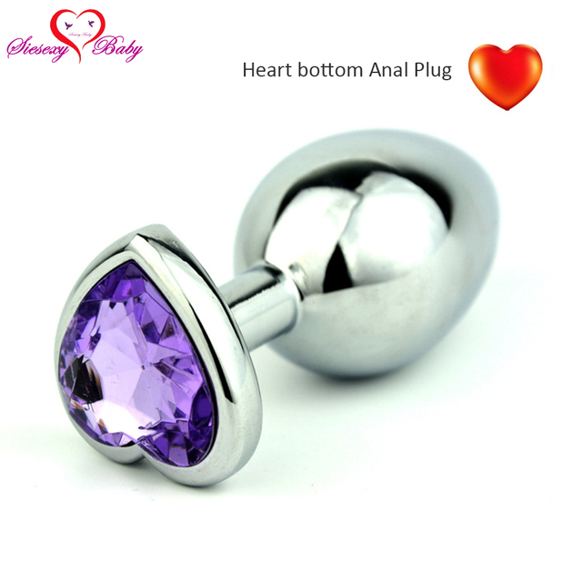 Big Size Heart Bottom Metal Anal Toys Smooth Touch Butt Plug Stainless Steel Erotic Toys Anal