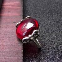 925 sterling silver, Thai Silver Garnet, index finger, red gem ring, dragonfly ring new lady