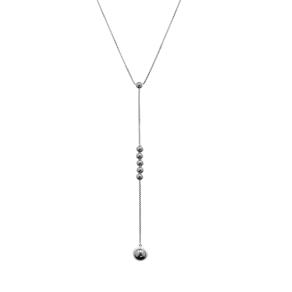 Pendant Necklaces & Pendants String Of Beads Necklace 925 STERLING SILVER JEWELRY Choker Joyas De Plata 925 Women Men Gift
