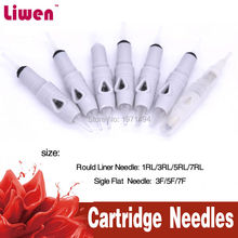 50pcs 3 Rould Liner Micro Needle& Permanent Makeup Tattoo Needle For Digital Professional Eyebrow Lip Liner Tattoo Machine