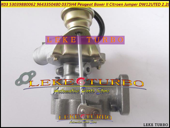 K03 62 53039880062 53039700062 Turbo Turbocharger For Peugeot Commercial Boxer II For Citroen Jumper 01- DW12UTED 2.2L Free Ship  цены
