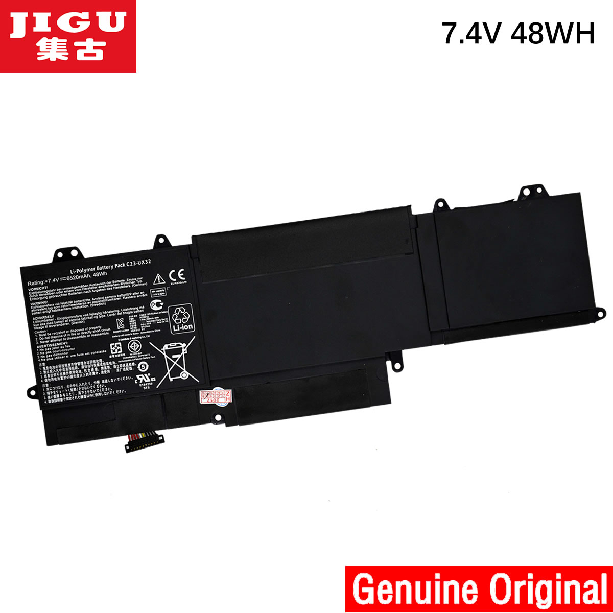все цены на JIGU C23-UX32 Original laptop Battery For Asus VivoBook U38N U38K U38DT for Zenbook UX32 UX32VD UX32LA 7.4V 48WH онлайн