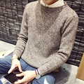 TG6113  Cheap wholesale 2016 new  Pure color pullovers male han edition students round collar men sweater coat