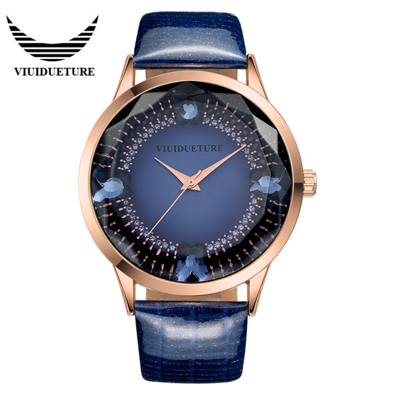 2016 Brand Luxury Woman Wrist watches VIUIDUETURE Leather Waterproof Fashion Casual Quartz Watch Relogio Masculino Relojes