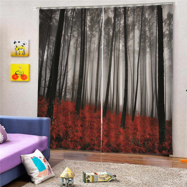 Luxury 3D Window Curtains Living Room wedding bedroom  Dream Forest  curtains Blackout curtain