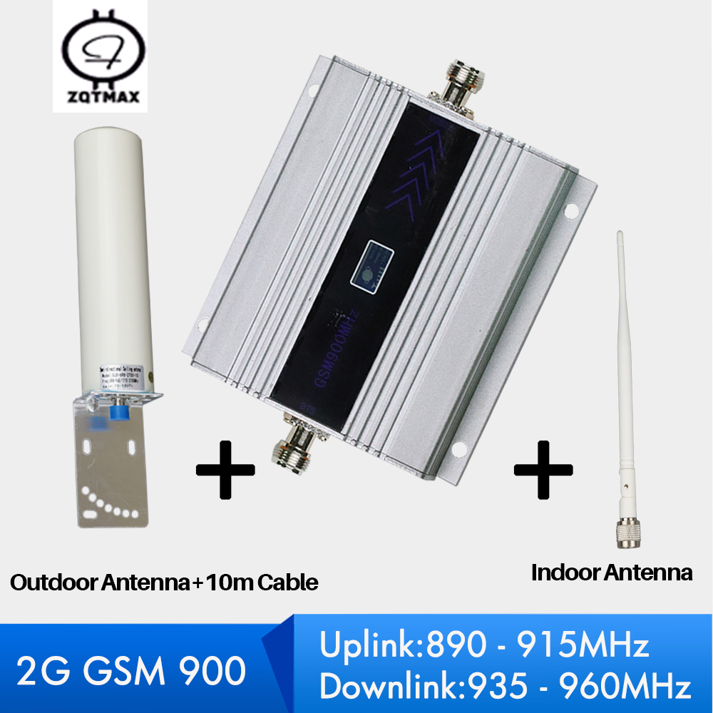 ZQTMAX 60dB Cell Phone Signal Repeater GSM 900 Work For Mobile Signal Booster Cellular Amplifier 2G GSM Booster Kit