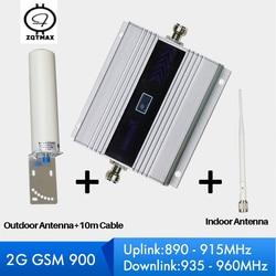 ZQTMAX 60dB komórek powielacz sygnału do telefonu GSM 900 pracy dla mobilny wzmacniacz sygnału komórkowego wzmacniacz 2G GSM booster zestaw