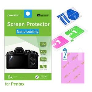 Deerekin HD Nano powłoka ochraniacz ekranu w/Top LCD dla Pentax K1 K-1 K-5 II K-5 IIs K-01 k-S1 K-1 K3 KP K-70 K-S2 K70 KS2 Q10