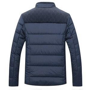 Image 3 - חורף מותג גברים מעיל פרווה הוד עם קשמיר בתוספת גודל 5XL חורף מעיל באיכות גבוהה אופנה גברים של מעיל מכירה לוהטת כותנה חליפה