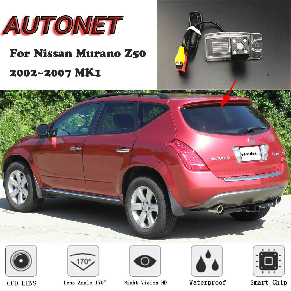 AUTONET HD Night Vision Backup Rear View Camera For Nissan Murano Z50 2002~2007 MK1 CCD/license Plate Camera Or Bracket