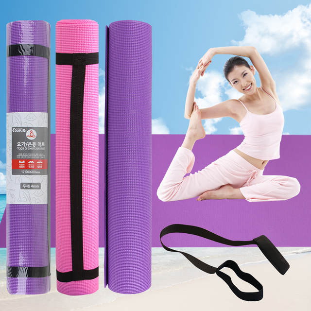 4mm Thick Yoga Mats 17160cm Living Room Mat Gym Exercise Body Building Household