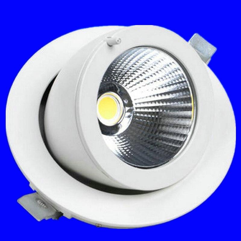 Вращаться на 360 градусов светодиодные светильники удара затемнения 7w10w15w 20 Вт 30 Вт COB Панель свет встраиваемые удара светильники светодиодны...