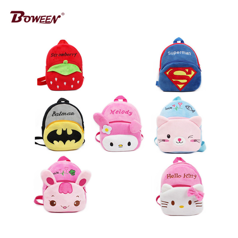 Cute Cartoon Kids Backpack School Bag Plush Toy  Mini Children's Backpack Boy Girl Baby Kindergarten  Student Bags Lovely