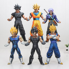 23-27cm Dragon Ball Z DBZ Super Saiyan son goku Vegeta Trunks Vegetto MSP Figures Collection Model Toys Chocolate Color Version(China)