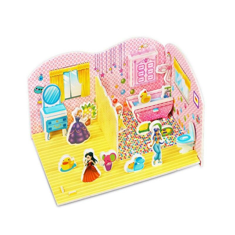 Бумага паззлами раннего обучения Строительная сборка детей украшения дома английские детские игры раннее образование игрушки - Цвет: YJL80928766E