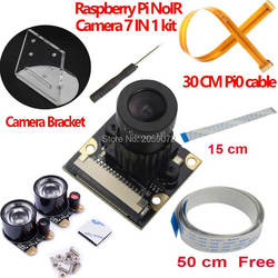 Raspberry Pi камера с фокусным расстоянием, регулируемый инфракрасный модуль камеры ночного видения для Raspberry Pi 3 Model B 4B zero w bracket 7 в 1