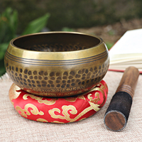 1 piece singing bowl decorative wall plate home decoration decorative wall plate Tibetan singing bowl Nepalese handmade music