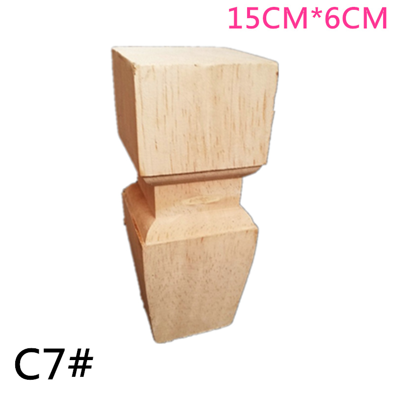 4PCS/lot 15x6cm/20x6cm Furniture Wood Round-footed Solid Wood Sofa Foot TV Television Cabinet Foot Seat Carved Feet4PCS/lot 15x6cm/20x6cm Furniture Wood Round-footed Solid Wood Sofa Foot TV Television Cabinet Foot Seat Carved Feet